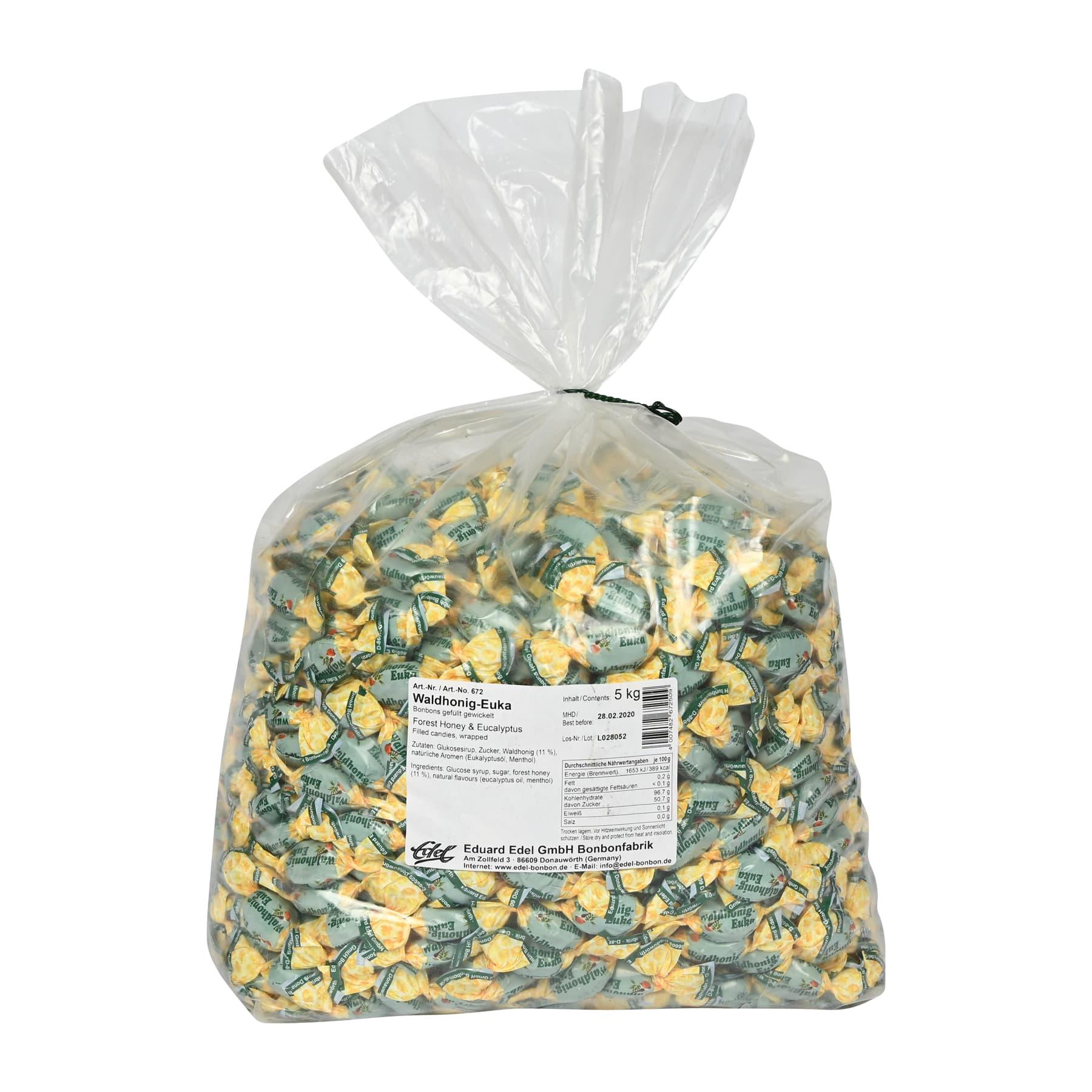 """Honigbonbon """"Waldhonig Euka"""" gefüllt, im 5 kg Beutel"""