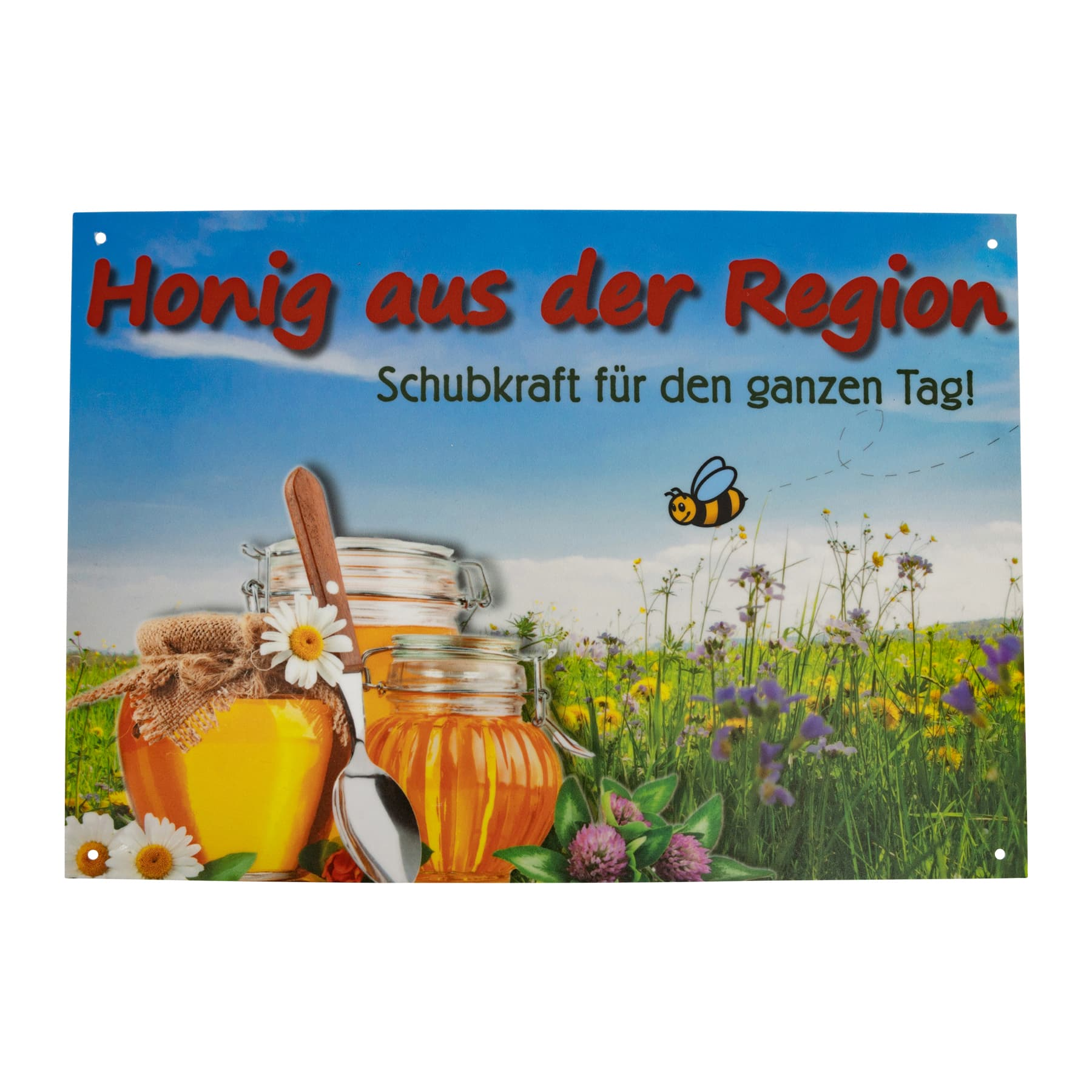 """Werbeschild """" Honig aus der Region"""" klein  21 cm x 14,5 cm"""