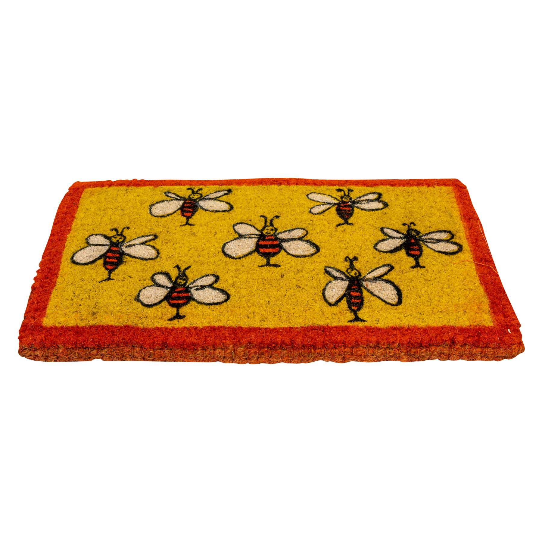 Fußmatte aus Kokos Naturfaser, rechteckige Form 73 x 43 cm