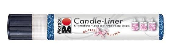 Candle - Liner, 25 ml von Marabu 594 glitter-saphir