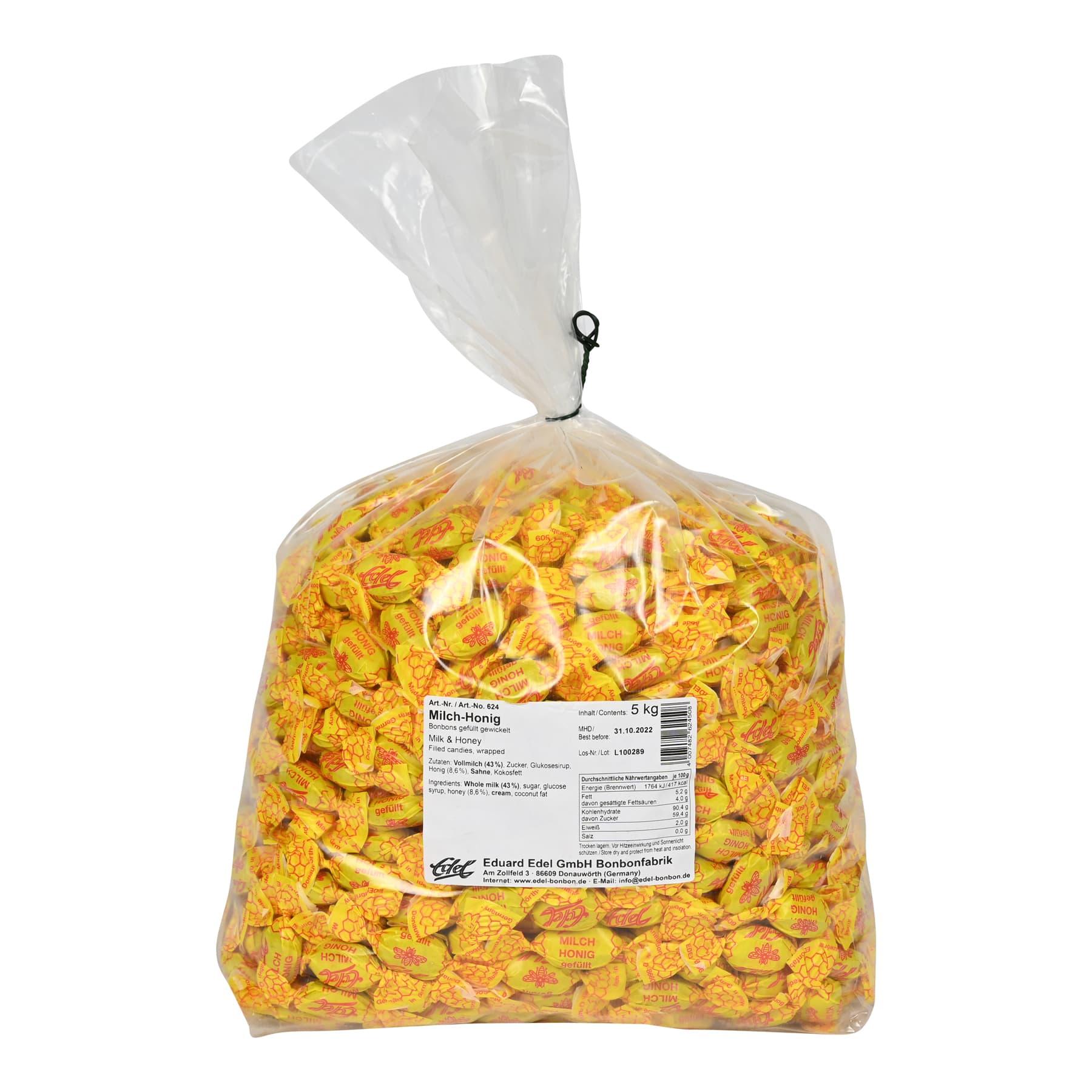 """Honigbonbon """"Milch und Sahne"""" gefüllt, im 5 kg Beutel"""