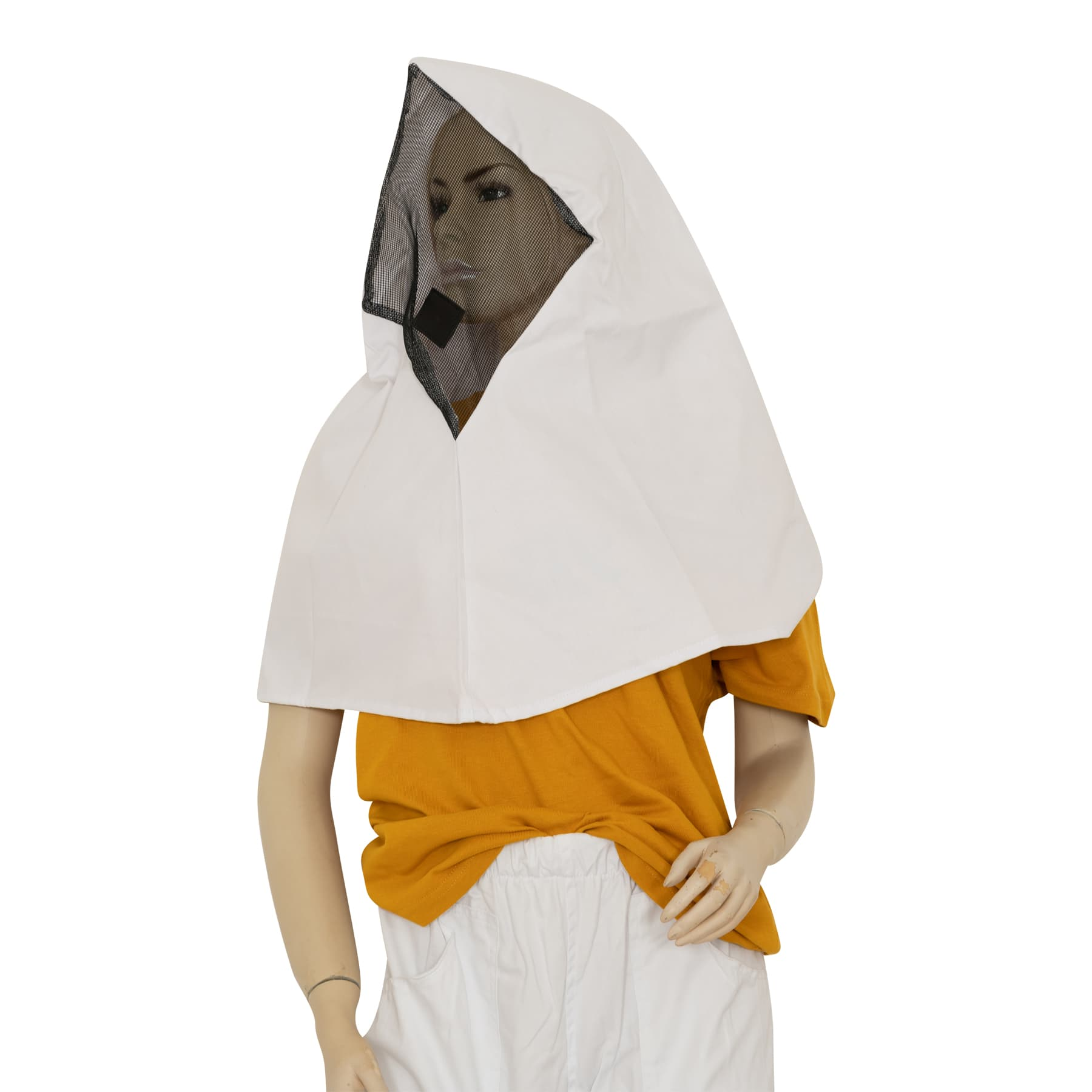 Imkerhaube, rautenförmig, auch Mönchhaube genannt