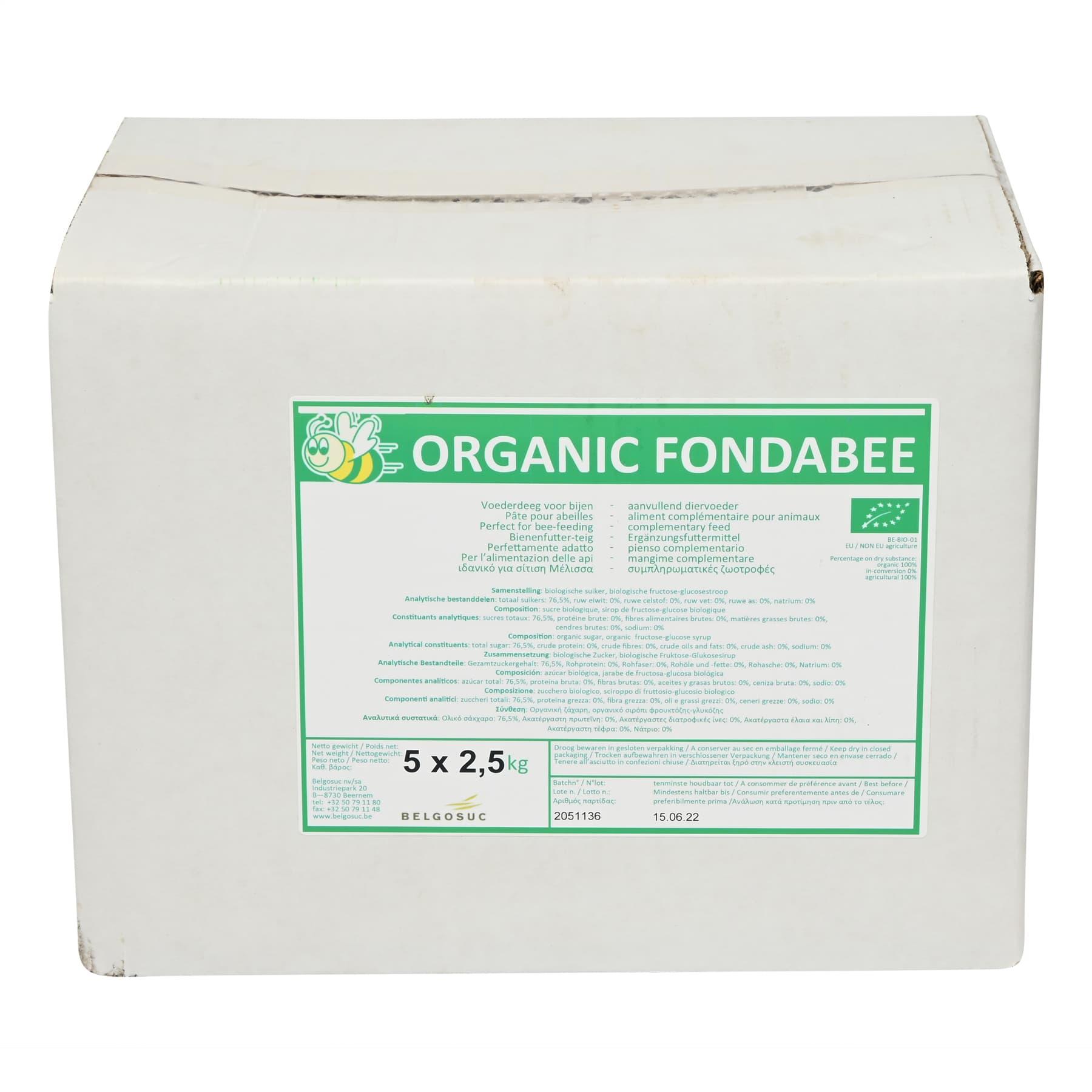 Bio Fondabee 12,5 Kg Karton , unsere Öko Kontrollnr.DE-ÖKO-034