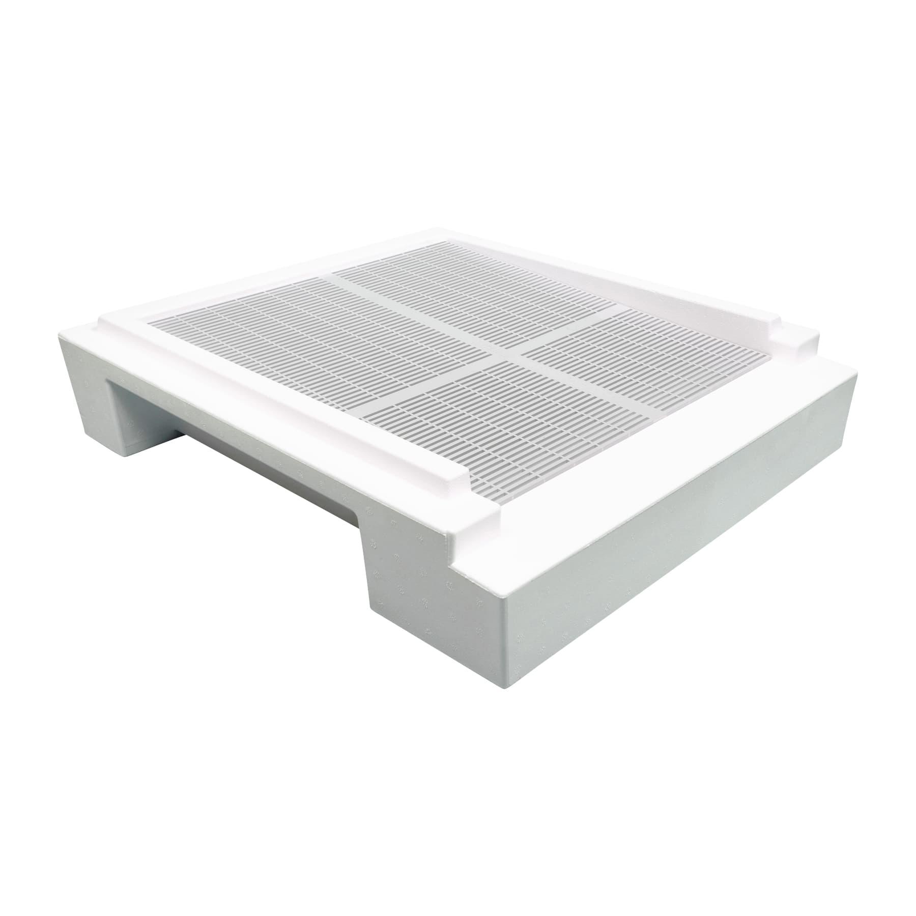Segeberger Flachboden mit Gitteröffnung und beigelegtem Kunststoffgitter  neue Ausführung