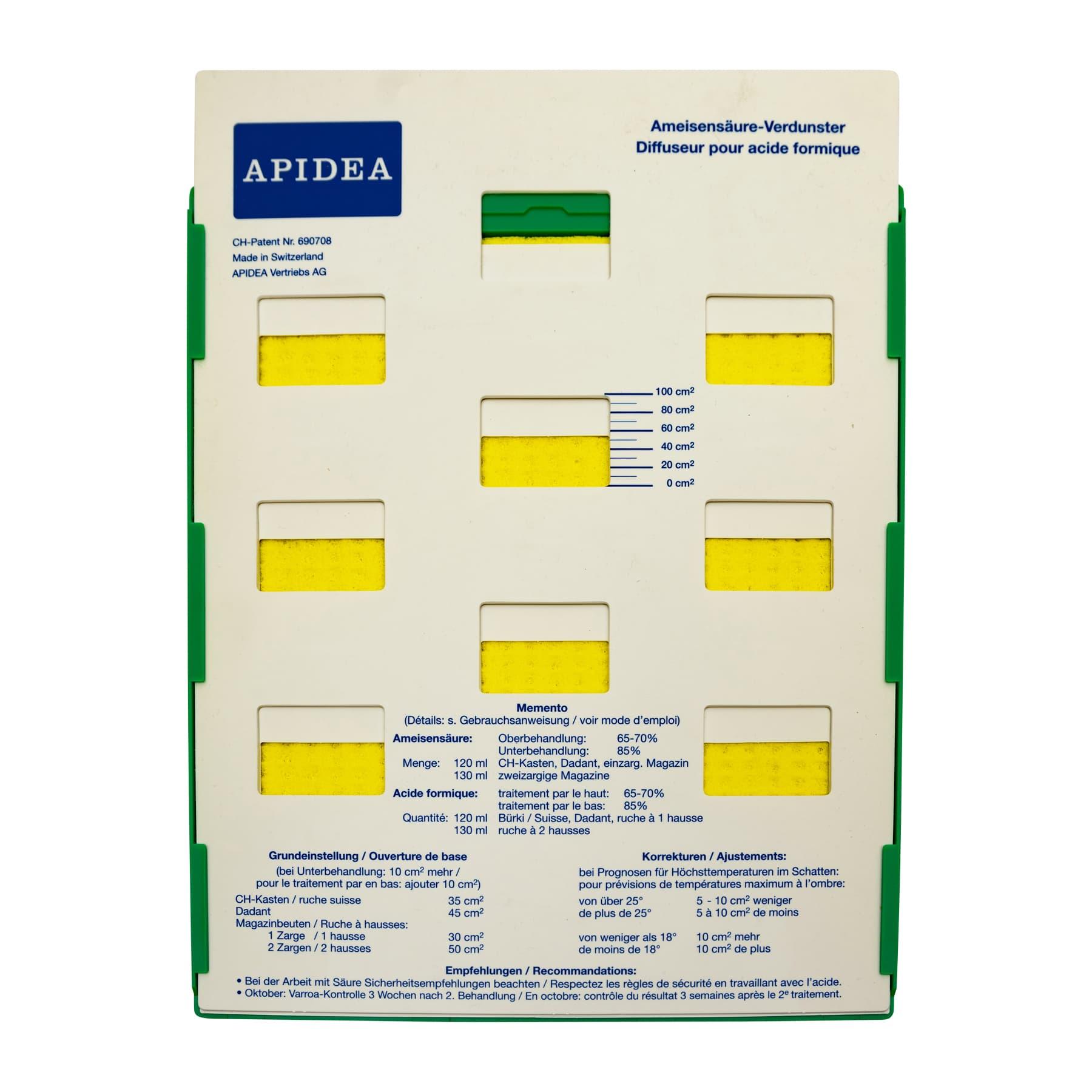 Apidea Dispenser für Ameisensäure