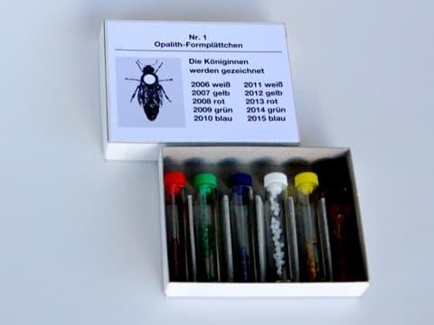 Zeichenplättchen-Set Opalith ohne Nummern. 5 Farben   Leim, deutsche Qualität